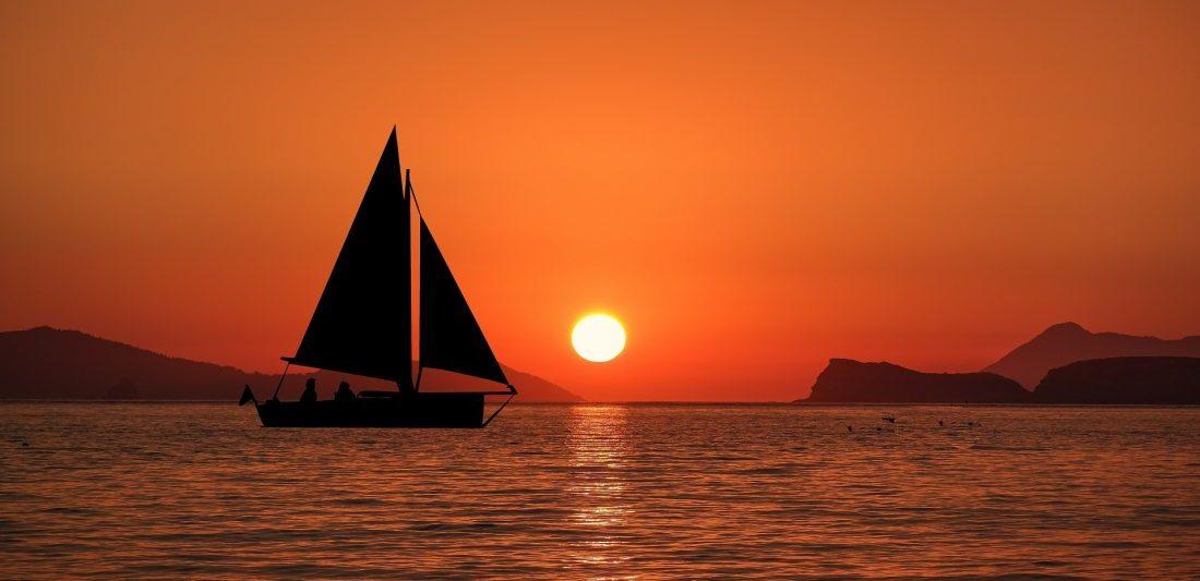 Sunset cruise on sailing boat